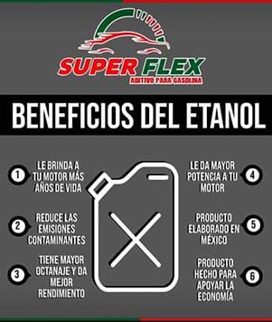 Super Flex Aditivo para gasolina ETANOL ANHIDRO CARBURANTE
