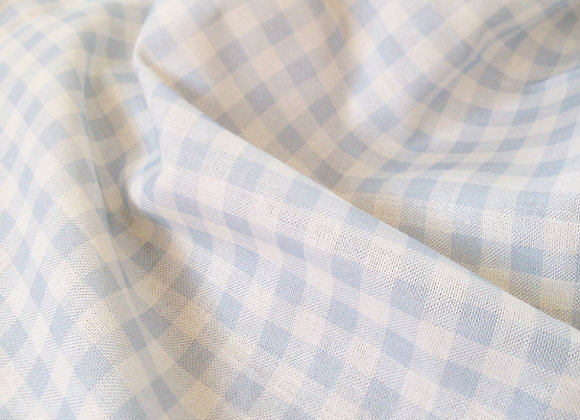Little Boy Blue Gingham and Windowpane on White