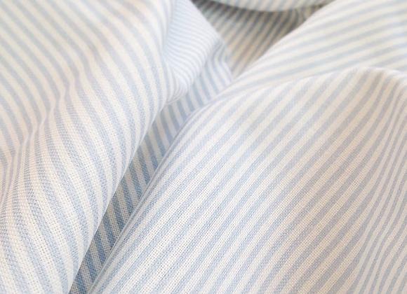 Little Boy Blue Dotty & Stripy on White Linen