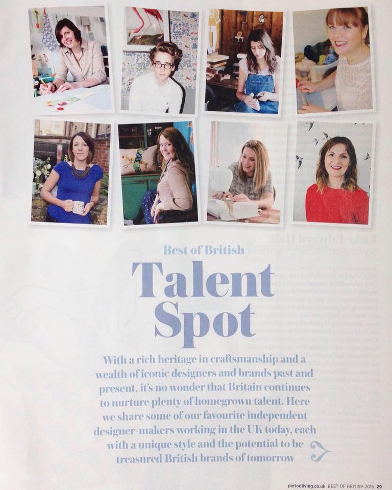 Talent spot - Period Living 2016