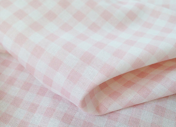 Fairytale Pink Gingham and Windowpane on White