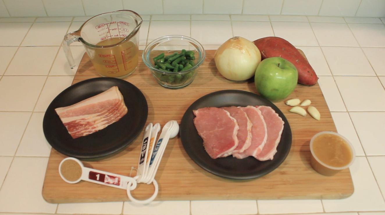 Sautéed Pork Tenderloin with Bacon A