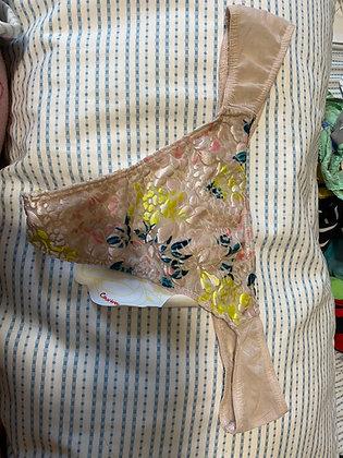 Flower Velvet Thong
