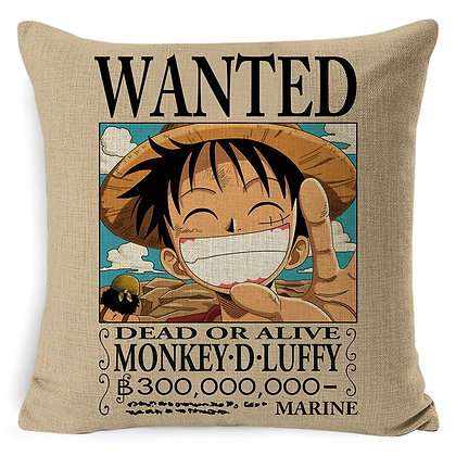 Luffy Wanted Poster Pillowcase