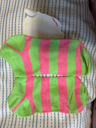 Stripped Lime Green with Pink