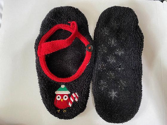 Christmas Owl Soft Bottom Slippers