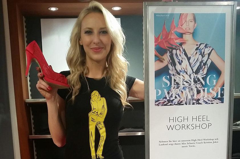 Geschäftsanlass Ladies Frauen Globus High Heels Idee Ausflug