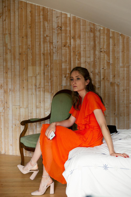 robe orange mariage