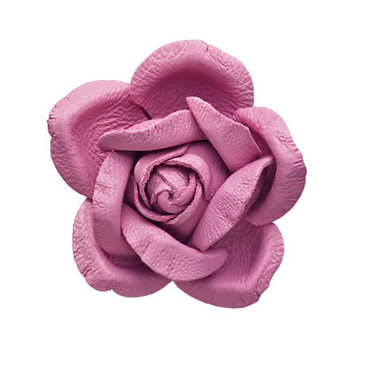 PINK ROSE - LACE BROOCH