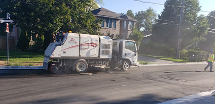 THE SALT DEPOT SWEEPER AND WATER TRUCK S