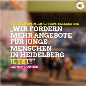 Grüne fordern mehr Angebote für junge Menschen in Heidelberg JETZT!