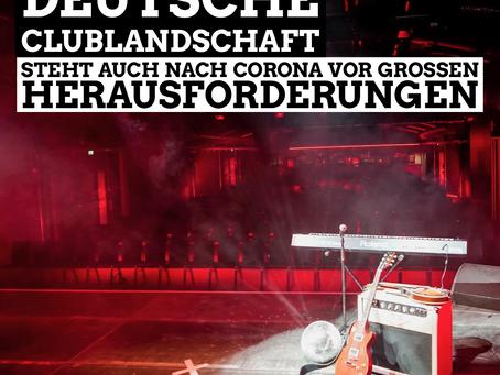 Die deutschen Clublandschaft steht auch nach der Corona Krise vor großen Herausforderungen