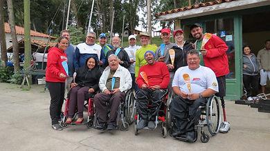 Velejadores do Clube Paradesportivo Superação