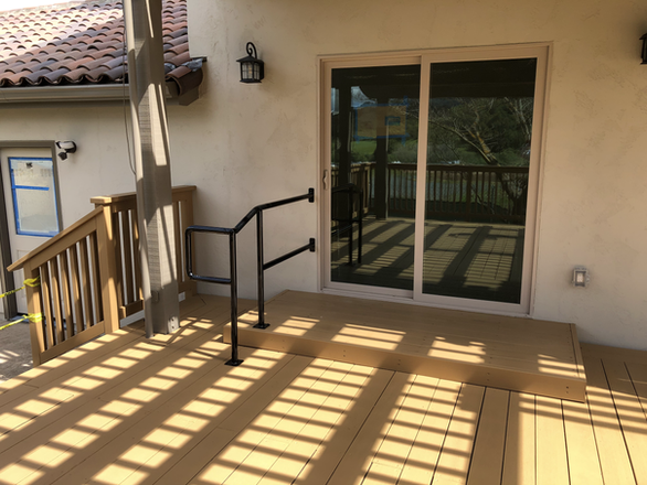 Deck with ADA Handrails