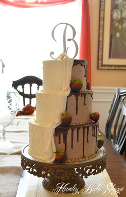 Combination Bride and Groom Cake