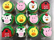 Farm themed cupcake