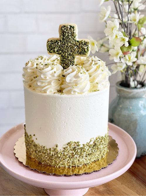 Garden Cross Cake
