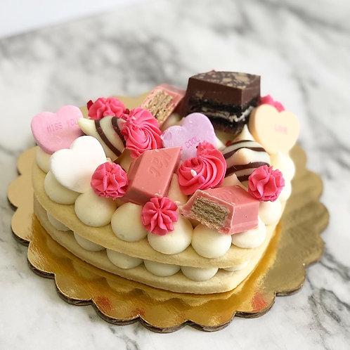 Mini Heart Cookie Cake