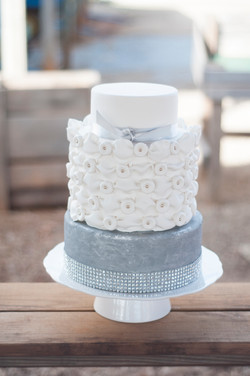 Silver and white wedding.
