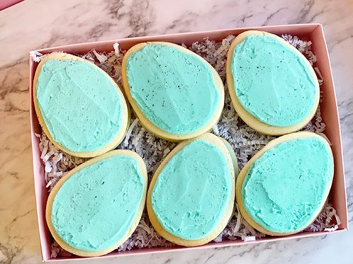 Speckled Egg Buttercream Cookies