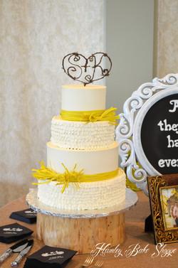 Buttercream Ruffle Wedding