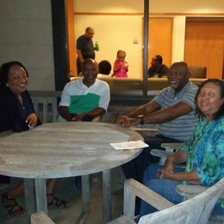 Members enjoying the church retreat