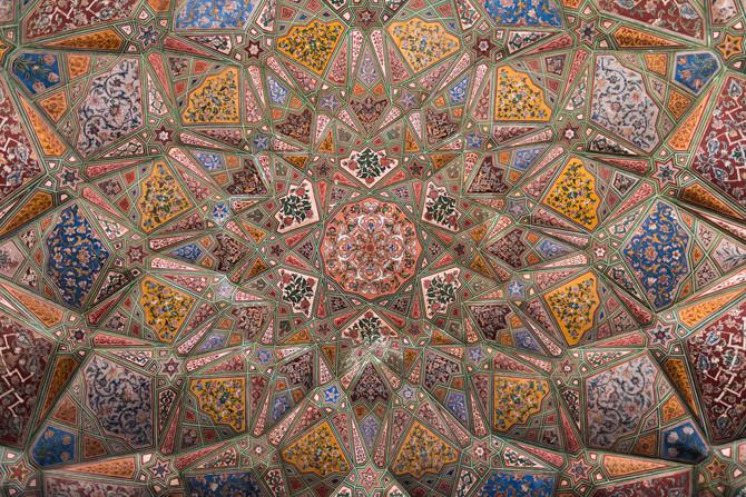 Roof, Wazir Khan Mosque, Lahore, Pakistan.