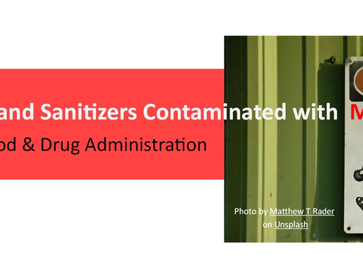 Warning: Certain Hand Sanitizers Contaminated with Methanol