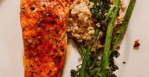 Honey Garlic Salmon with Broccolini & Quinoa