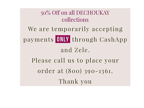 All Dechoukay products are 50%off call us 18003901361