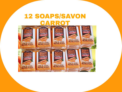 12 CARROT SOAPS