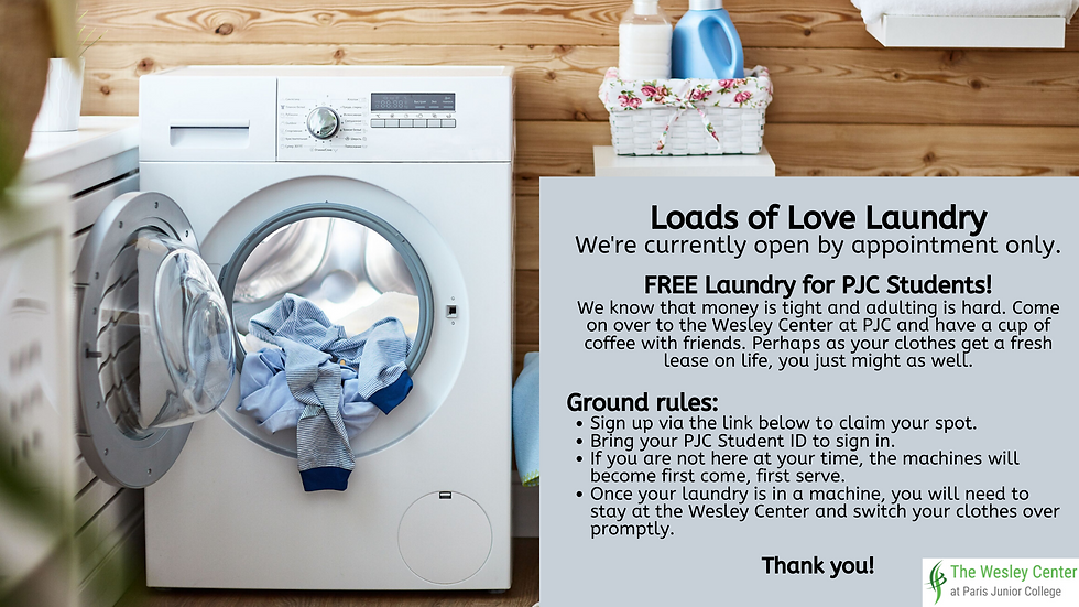 FREE Laundry for PJC Students!We know that money is tight and adulting is hard. Come on ov