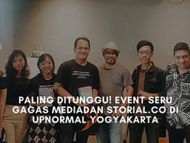 Paling Ditunggu! Event Seru Gagas Media dan Storial.co di Upnormal Yogyakarta