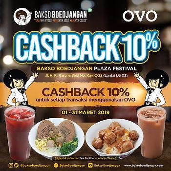 Promo Cashback 10% OVO BB Plaza Festival