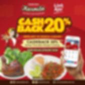 Promo Cashback LinkAja 20% Sambal Karmil