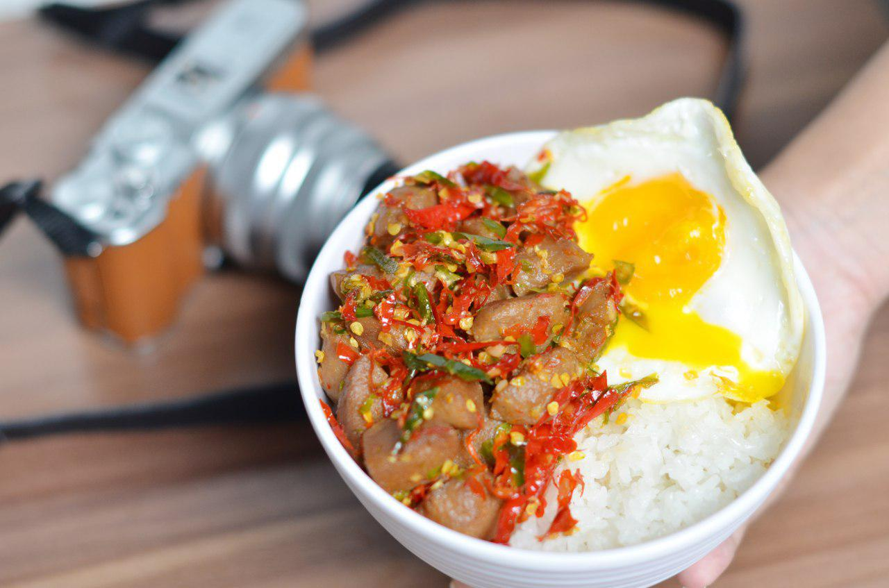 Nasi Bakso Sambal Konslet + Telur