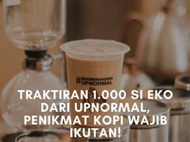 Traktiran 1.000 Si Eko dari Upnormal, Penikmat Kopi Wajib Ikutan!