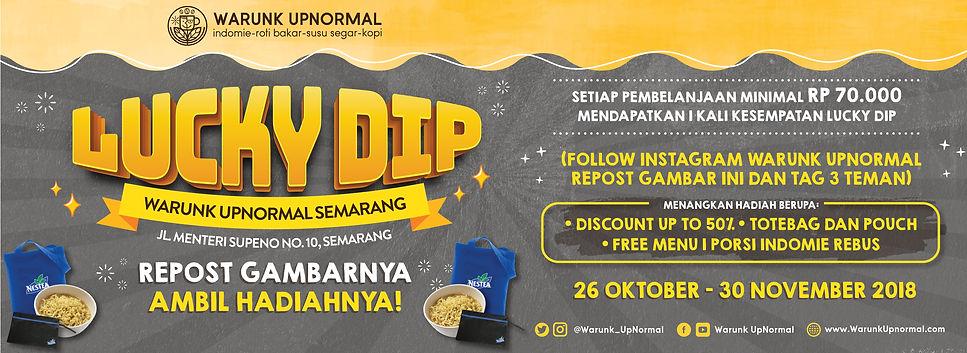 Promo Lucky Dip Warunk Upnormal Semarang