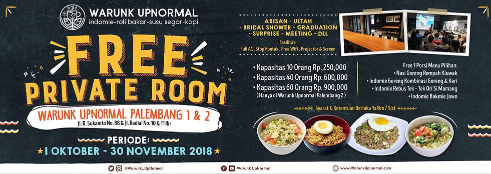 Promo Free Private Room - Warunk Upnorma