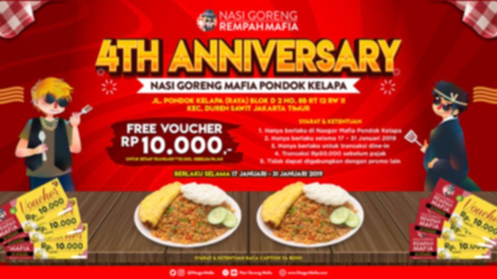 4th Anniversary Nasgor Mafia Pondok Kela