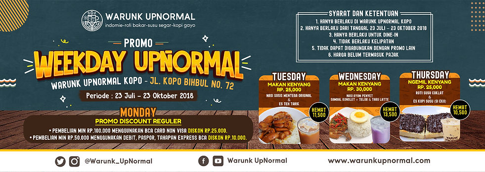Promo Weekday Upnormal