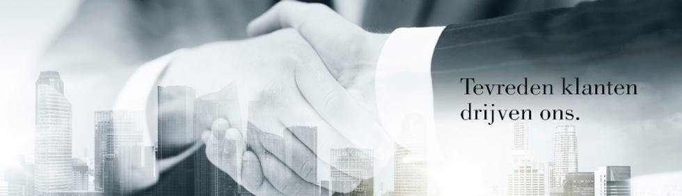 Tevreden klanten drijven ons - Handshake