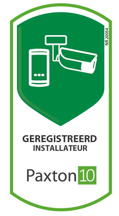 Logo Geregistreerd installateur Paxton10 Nobel Security