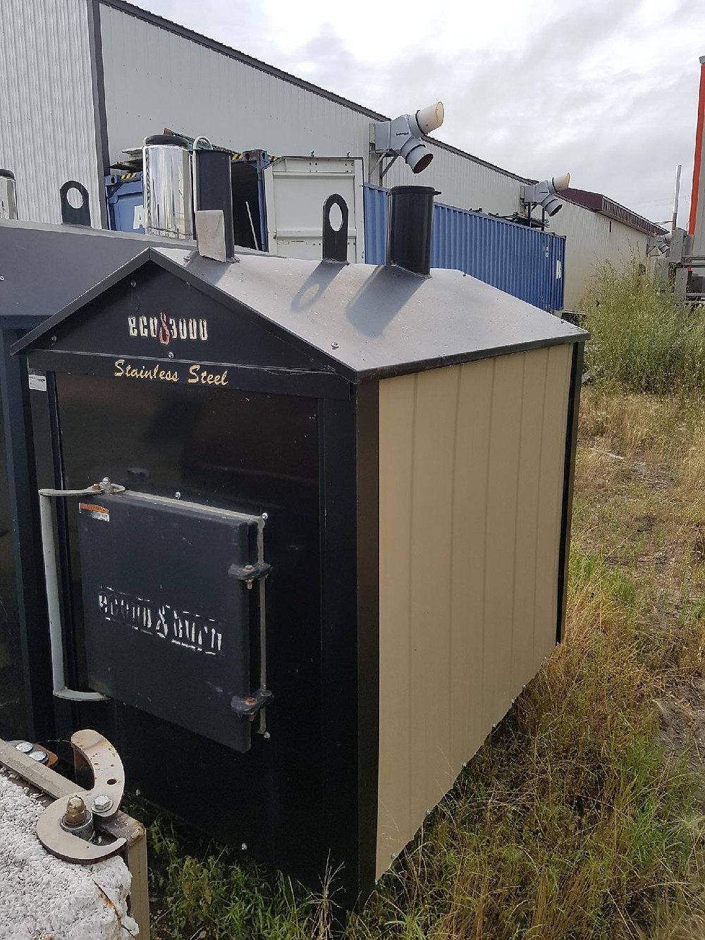 Used HeatMaster Eco 3000 outdoor wood boiler
