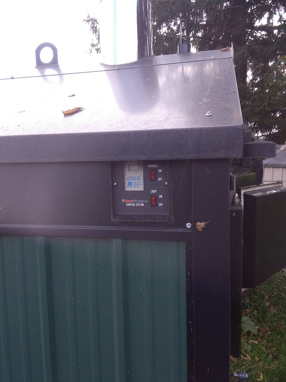 For Sale HeatMaster Outside Wood Stove