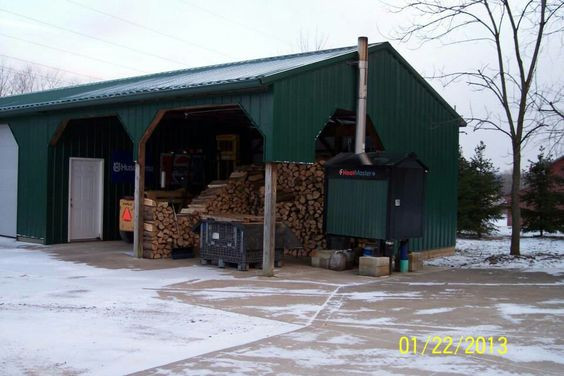 Outdoor Wood Boiler Shed Ideas