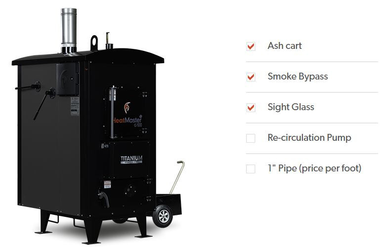 Build outdoor wood boiler
