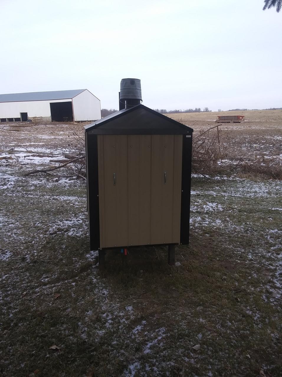 Used Outside Wood Burner