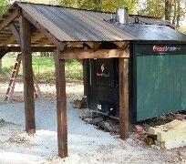 wood boiler shed roof