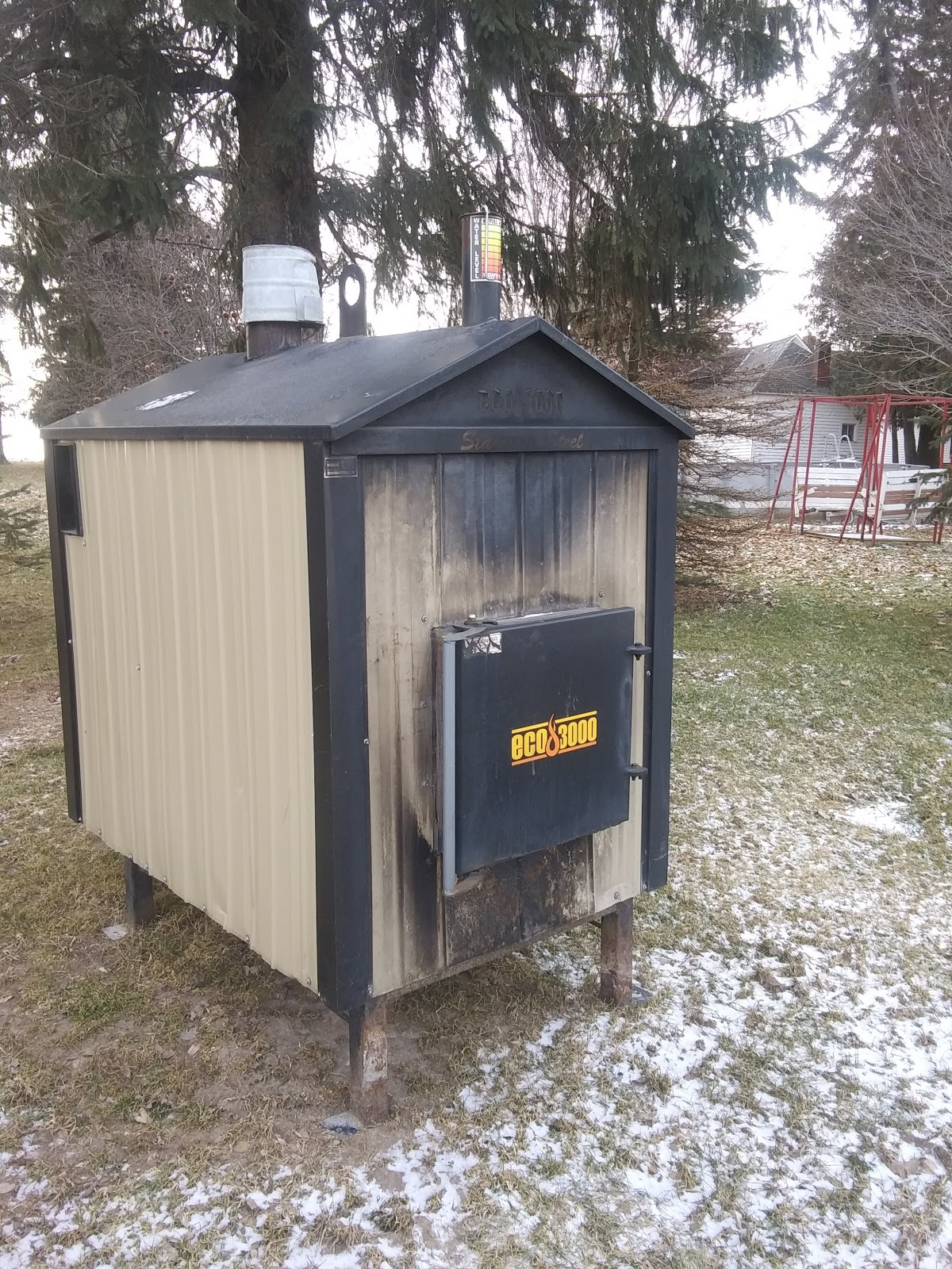 Eco 3000 Used Outdoor Wood Furnace Boiler